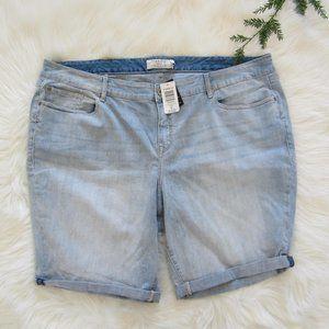 Torrid Light Wash Blue Monday Denim Jean Shorts